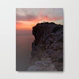Pink cliff - cala d'Inferno. Metal Print