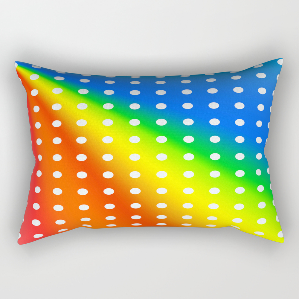 Vibrant Polka Dot Design Rectangular Pillow RPW8261356