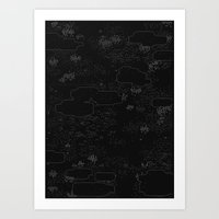 land of 15 towns and a cemetary · negative ⎌ Art Print