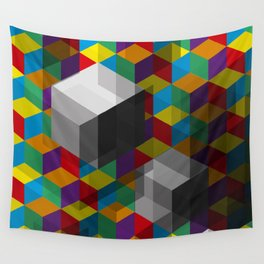 Isometric Colour Wall Tapestry