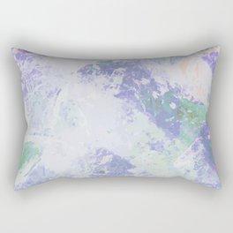 Abstract Life - Deep Blue & Fresh White Rectangular Pillow