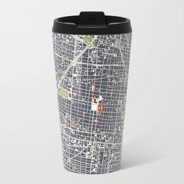 Mexico city map engraving Travel Mug