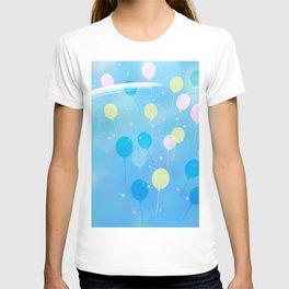 Balloon and rainbow T-shirt
