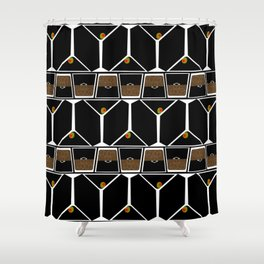 happy hour pattern Shower Curtain
