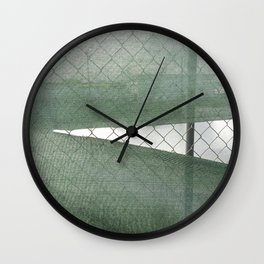Fence Study I Wall Clock