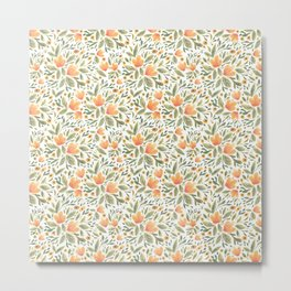 Peachy Flower Medley Metal Print