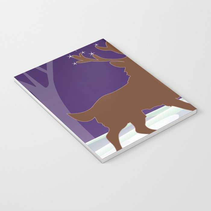 Deer on the ice Notebook