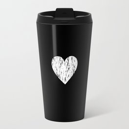 ghost paint heart Travel Mug