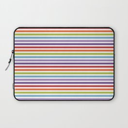 Modern artistic geometrical colorful violet orange green stripes Laptop Sleeve