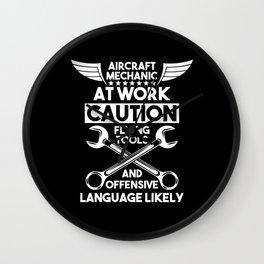 Aircraft Mechanic Airplanes Gift Wall Clock