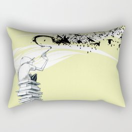 "Glue Network Print Series ""Education & Arts"" Rectangular Pillow"
