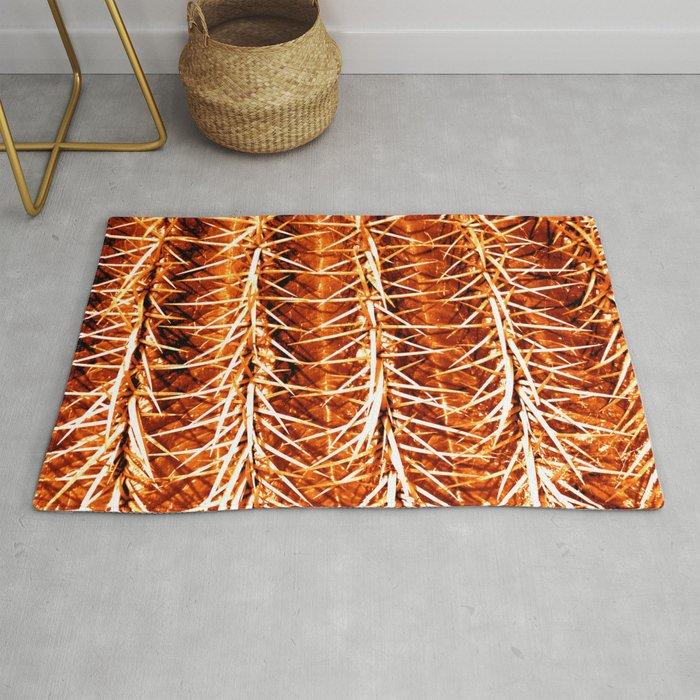 Cactus Pattern Orange Rug