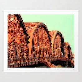 BROADWAY BRIDGE - PORTLAND OREGON Art Print