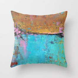 Montego Bay - Urban Abstract Painting Throw Pillow
