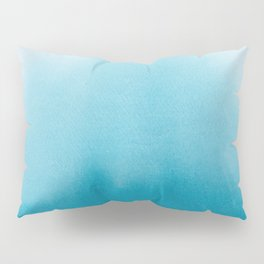 Turquoise Watercolor Pillow Sham