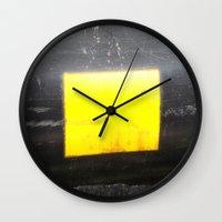 square Wall Clocks featuring SQUARE by Manuel Estrela 113 Art Miami