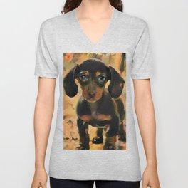 Making Puppy Eyes at You Unisex V-Neck