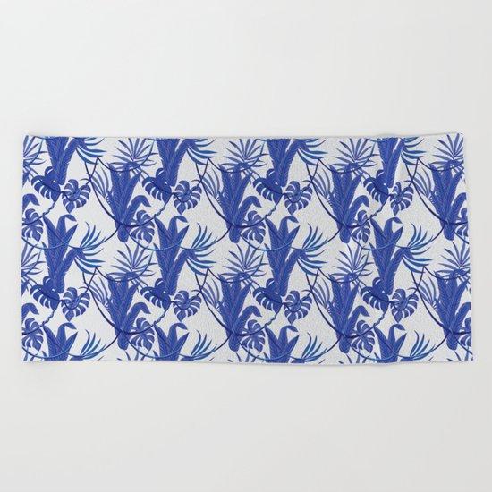 Jungle pattern Beach Towel