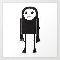 yeti Art Prints featuring Yeti by Shy Ghoul