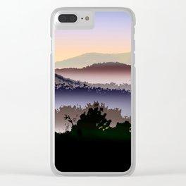 Misty Mountain Foggy Landscape Clear iPhone Case