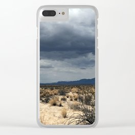 California desert under the clouds Clear iPhone Case