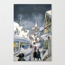 Snowy Hogsmeade Canvas Print