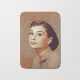 Audrey Hepburn, Hollywood Legend Bath Mat