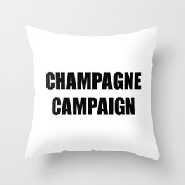 Champagne Campaign Mmm Bubbles Throw Pillow