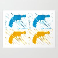 guns Art Prints featuring Guns by Chloe Bromfield