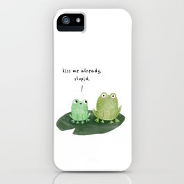 Kissing Frogs iPhone Case