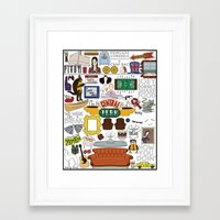 collage Framed Art Prints featuring Collage by Loverly Prints