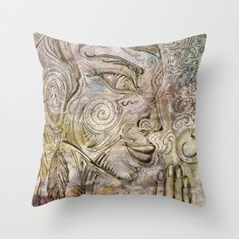 Reflection on  'Second Hand Flood Newz' Throw Pillow