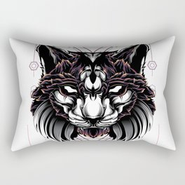 Lynx Cat sacred geometry Rectangular Pillow