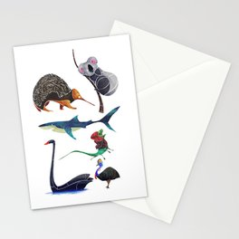 Australian animals Stationery Cards