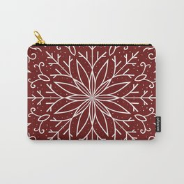 Single Snowflake - dark red Carry-All Pouch