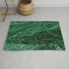 Dark emerald marble texture Rug