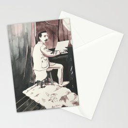 The Pant-less Pianist Stationery Cards