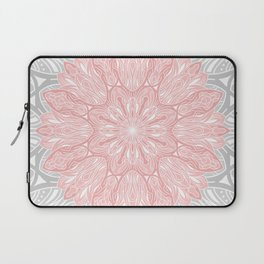 MANDALA IN GREY AND PINK Laptop Sleeve
