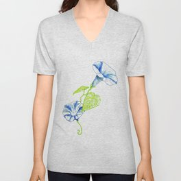 Morning Glory Unisex V-Neck
