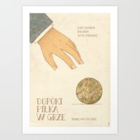 Trouble with the Curve Art Print