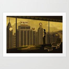 Oilman illustration 01 Art Print