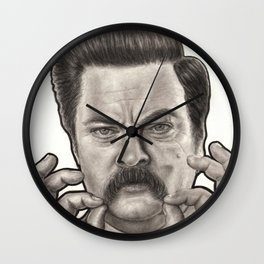 Ron Swanson Wall Clock