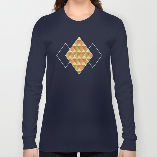 Triangle Diamond Grid Long Sleeve T-shirt