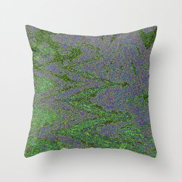 GORIAN MOSS GROWING ON FALIS THREE ON A CLOUDY DAY Throw Pillow
