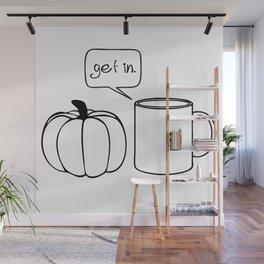 Pumpkin Spice Comic - Get In Wall Mural