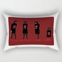 Tis But A Scratch Rectangular Pillow