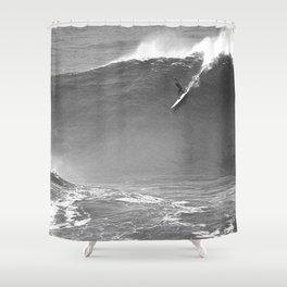 Mavericks Condition Black Shower Curtain