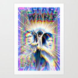 Comic Book Cover Star Glitch Wars  Art Print