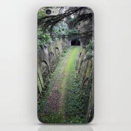 Green tunnel iPhone Skin