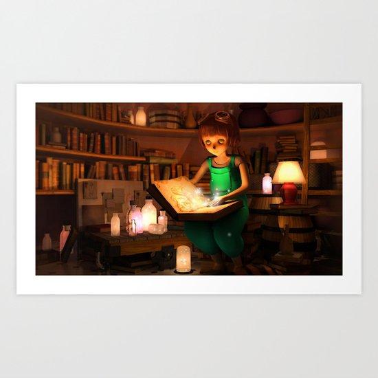 Lily's Magic Room Art Print